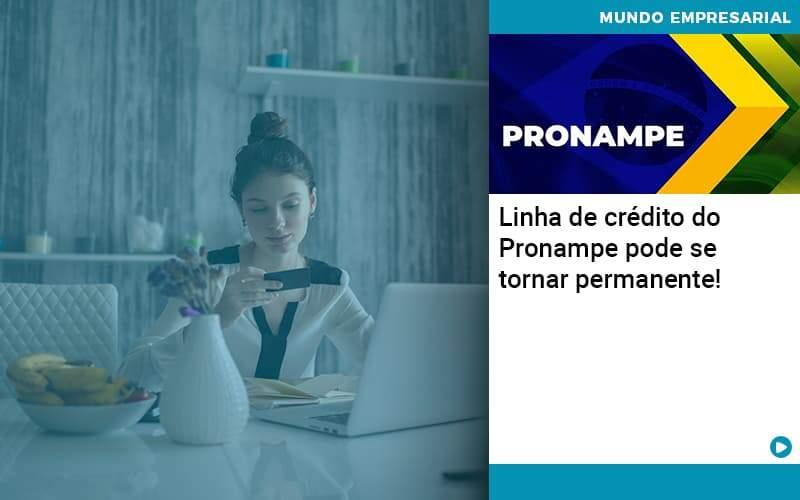 Linha De Credito Do Pronampe Pode Se Tornar Permanente - Job Cont