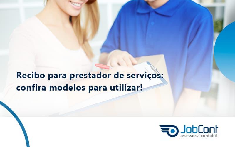Recibo Para Prestador De Serviços Jobcont - Job Cont